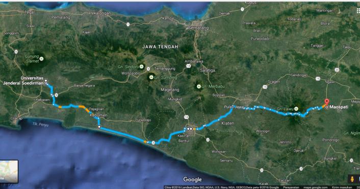 Peta Jawa Tengah Jawa Timur